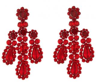 Simone Rocha Red Chandelier Earrings
