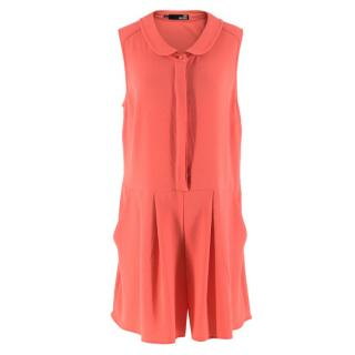 Love Moschino Coral Sleeveless Jumpsuit