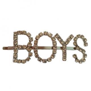 Simone Rocha Crystal 'BOYS' Hairclip