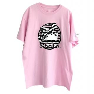 Chanel Cruise Collection Pink 'La Pausa' T-Shirt
