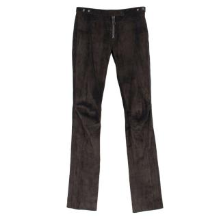 Belstaff Brown Suede Trousers
