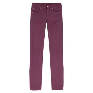 7 For All Mankind Purple Skinny Jeans