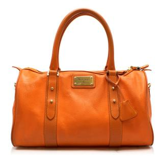 Aspinal of London Orange Leather Tote Bag