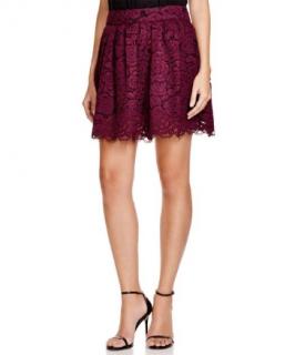 Alice + Olivia Floral Lace Mini Skirt