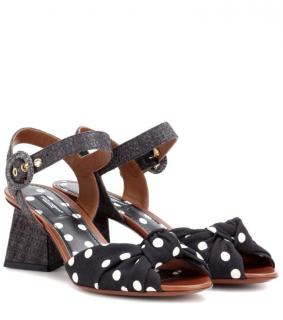 Dolce & Gabbana Black and white polka dot sandals