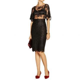 Dolce & Gabbana 'Cordonetto' Black Lace Skirt