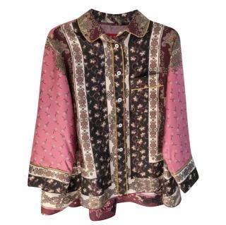 F.R.S Rea Russian Foulard-print silk-twill pyjama shirt