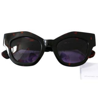 Jonathan Saunders Tortoiseshell Dana Sunglasses