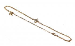 Bespoke Vintage 18ct Gold Set Diamond Bracelet