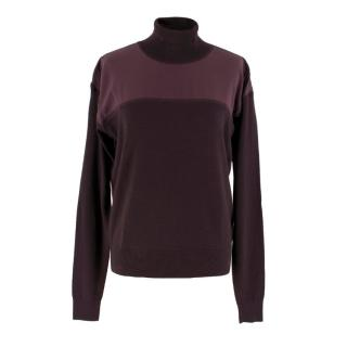 Chloe Burgundy Wool Turtleneck Sweater