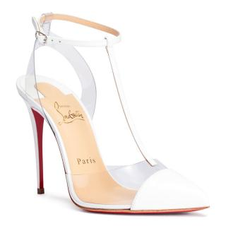 Christian Louboutin Nosy 100 Patent/PVC Heeled Sandals