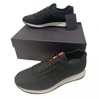 Prada Black & White Men's Sneakers