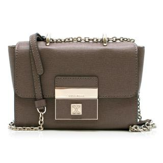 Coccinelle Taupe Shoulder Flap Bag