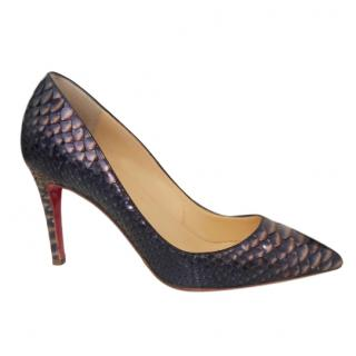 Christian Louboutin Python Pigalle Follies 85 Pumps