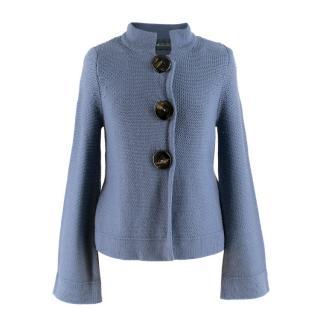 Goat Blue Merino Wool Cardigan