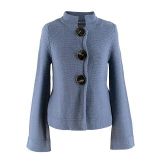 Goat Blue Merino Wool Cardigan