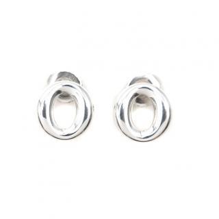 Elsa Peretti for Tiffany & Co Sterling Silver Sevillana Stud Earrings