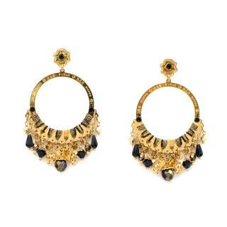 Gas Bijoux Embellished Hoop Earrings