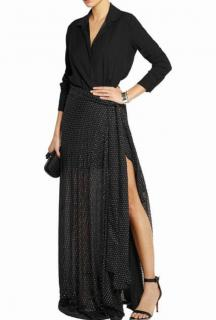 Jay Ahr Crepe And Embroidered Silk-Gauze Gown