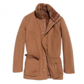 Loro Piana Vicuna/Camel mink collar Winter Voyager Coat