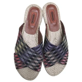 Missoni zigzag-knit espadrille slides