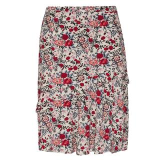 Gerard Darel floral-print fluted-hem skirt
