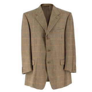 Canali Tweed Wool Single Breasted Blazer