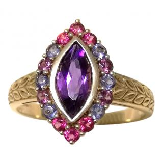 Bespoke Gold Set Amethyst, Lolite & Tourmaline Cocktail Ring