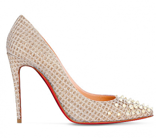 Christian Louboutin Spikyshell 100 quadro/lur pumps