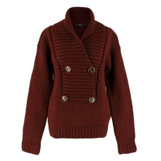Gucci Burgundy Chunky Knit Sweater