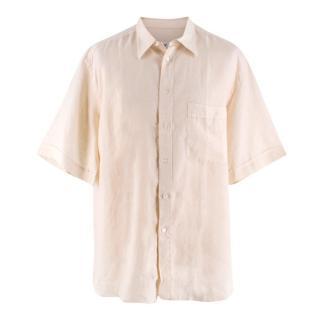 Brioni Beige Linen Shirt