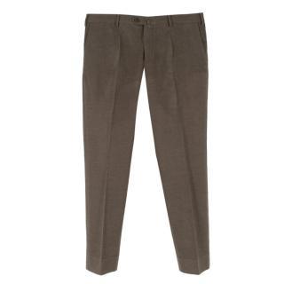 Loro Piana Men's Brown Casual Trousers