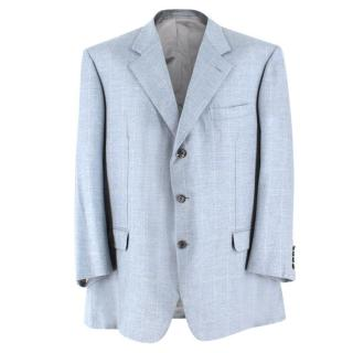 Brioni Windowpane Check Cashmere Blazer
