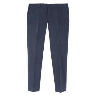 Loro Piana Navy Cotton Casual Trousers