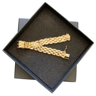 Bespoke 18kt Yellow Gold Set Honeycomb Bracelet