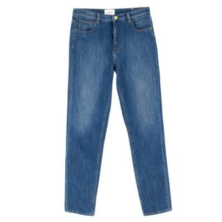 Sezane High Waist Straight Fit Jeans