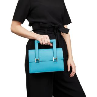 Hermes Chevre Mysore Leather Blue 365 Pm Bag
