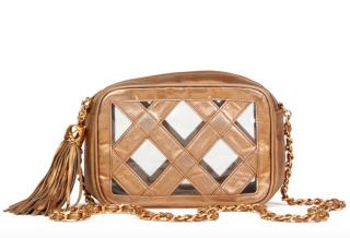 Chanel Vintage Gold PVC & Leather Naked Camera Bag