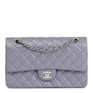 Chanel Quilted Leather Lilac Medium Flap Bag