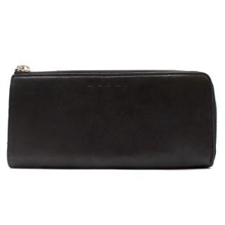 Marni Black Leather Wallet