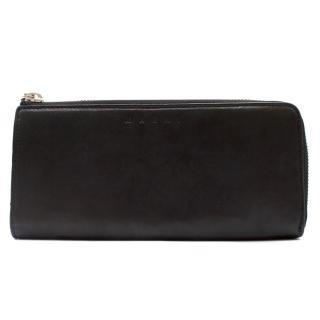 Marni Black Leather Wallet