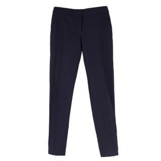 Stella McCartney Navy Wool Casual Trousers