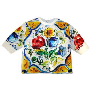 Dolce & Gabbana Majolica' Tile print top