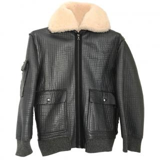 Brock Collection Leather & Shearling Coat