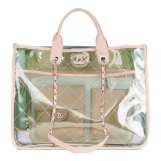 Chanel Large PVC Naked Shopping Tote