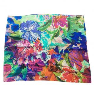 Caroline Charles Silk Multi-coloured Scarf