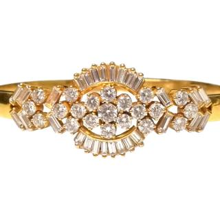 Bespoke Diamond-Encrusted Gold Bangle