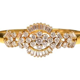 Bespoke Diamond-Encrusted Gold Bangle