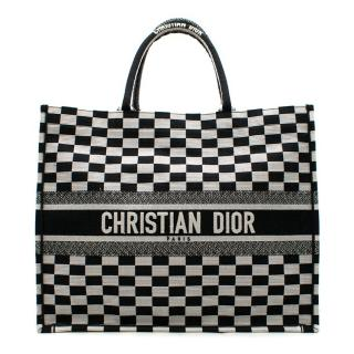Dior Embroidered Canvas Book Tote Bag