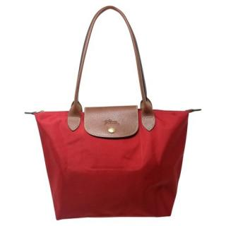 Longchamp Red Pliage Shopping Tote